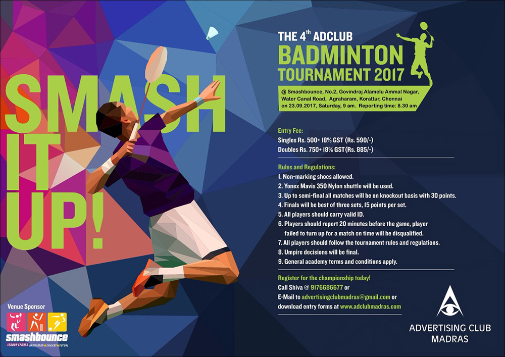 The 4th Adclub Badminton Tournament 2017