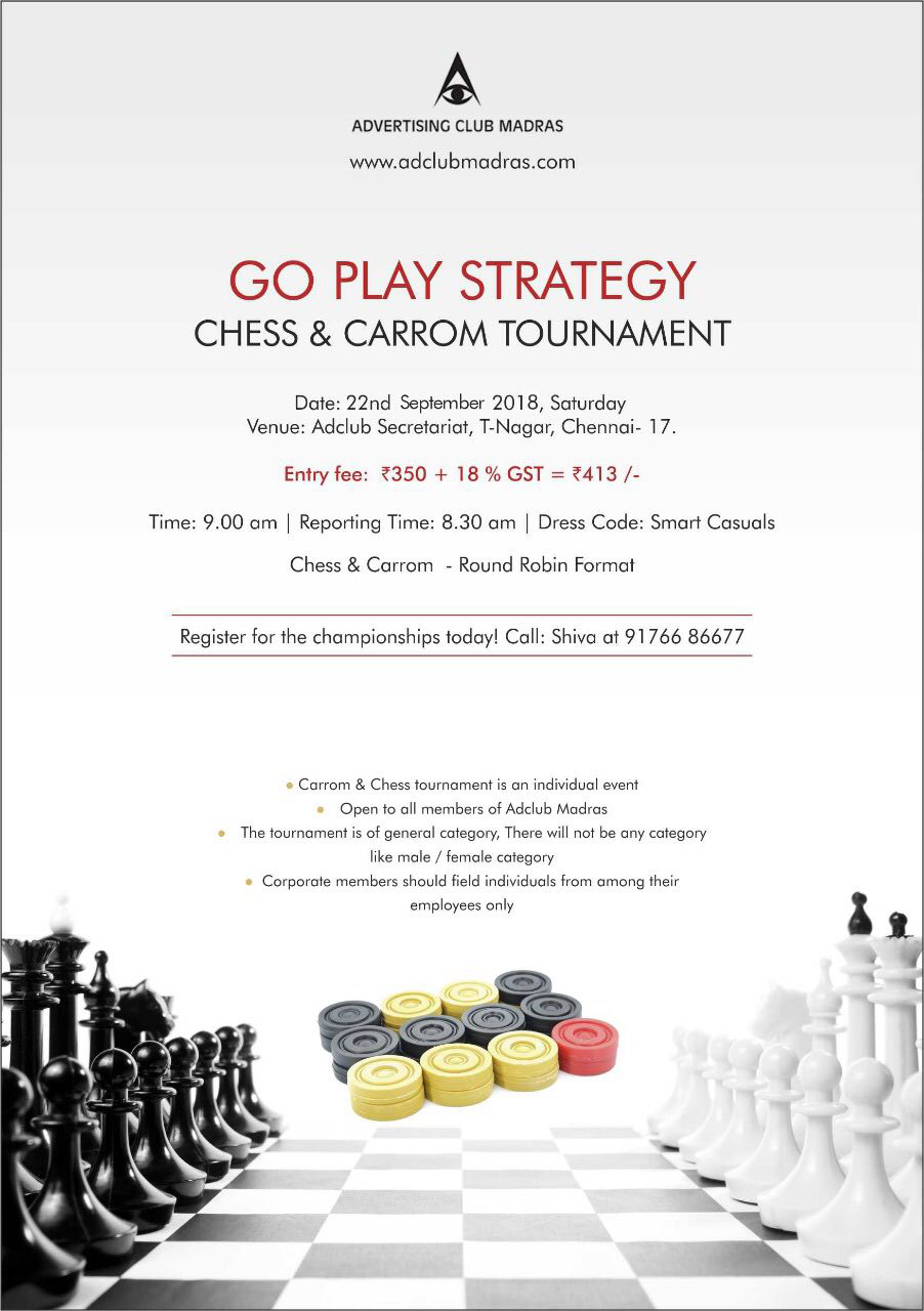 Chess And Carrom Tounrament 2018
