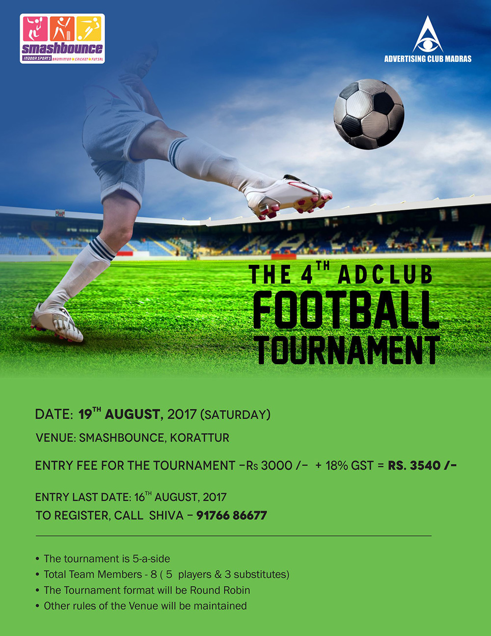 The 4th Ad Club Football Tournament 2017