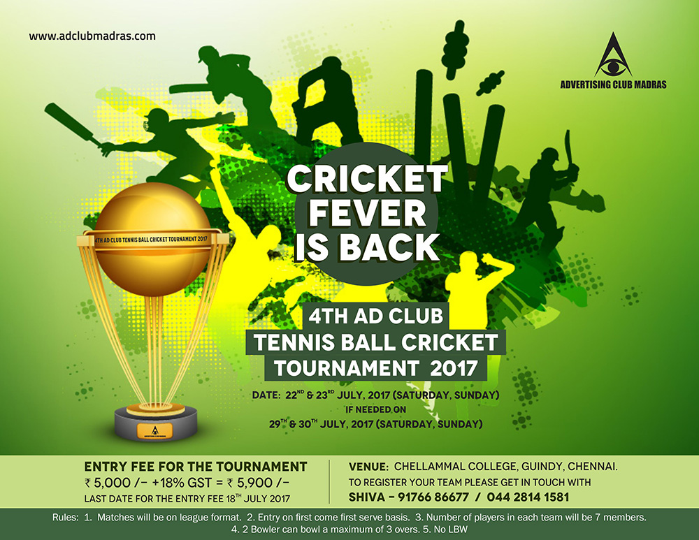 4th Ad Club Tennis Ball Cricket Tournament 2017