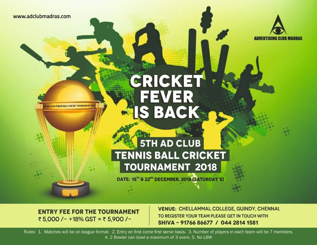5th Ad Club Tennis Ball Cricket Tournament 2018