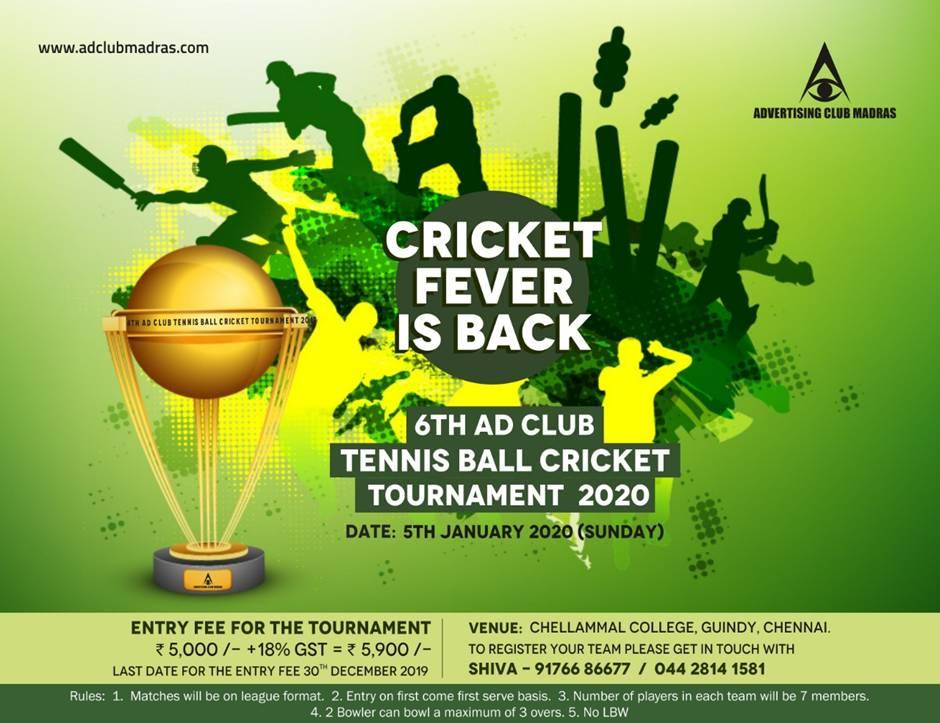 6th Ad Club Tennis Ball Cricket Tournament 2020